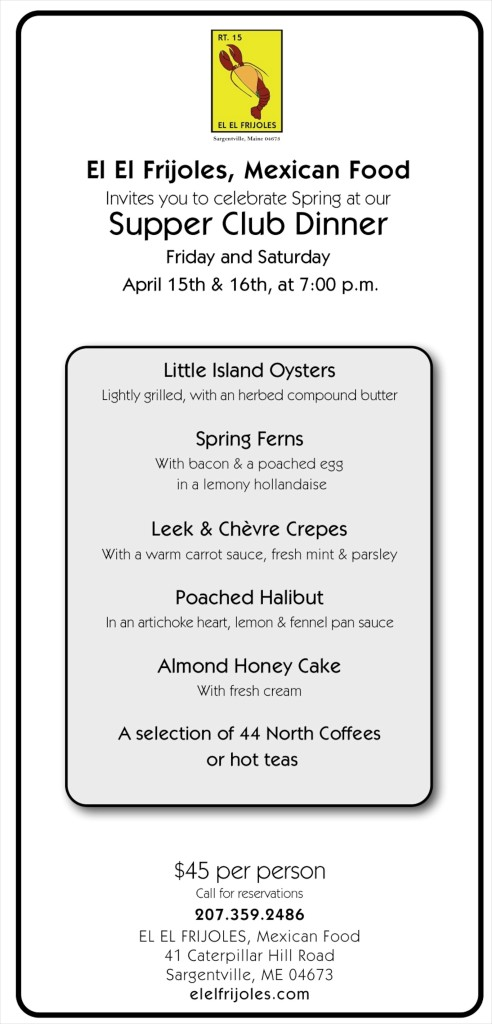 April 2016 supper club